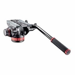 Manfrotto 502 PRO Fluid Videokopf mit Flachbasis (Counterbalance, Easy-Link, für professionelle Foto- /Videografen, Camcorder und DSLR bis 7 kg, MVH502AH) - 1