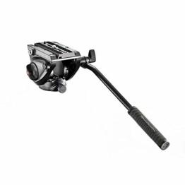 Manfrotto MVH500AH Kompakt Fluid Videoneiger (Inkl. Flacher Basis (1/4 Zoll) und (3/8 Zoll) Gewinde) schwarz - 1