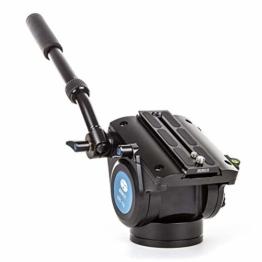 SIRUI VH-15 Fluid Videokopf (mit Schnellwechselplatte 125mm, Flache Basis, Arm verlängerbar, Aluminium) schwarz - 1